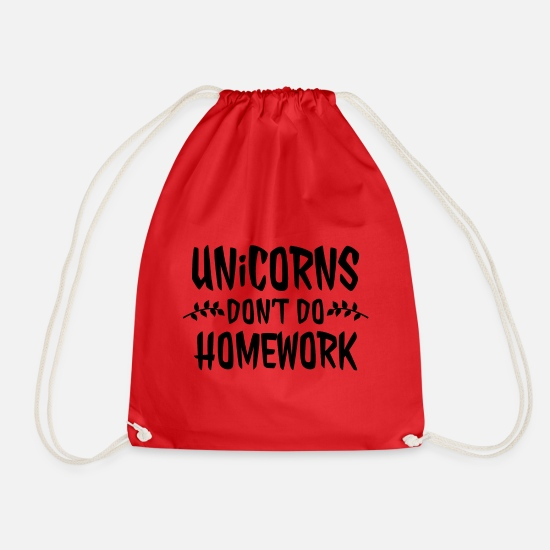 Homework Bags & Backpacks - homework - Drawstring Bag red