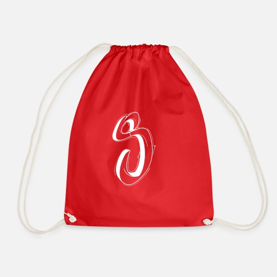 Typography Bags & Backpacks - s - Drawstring Bag red