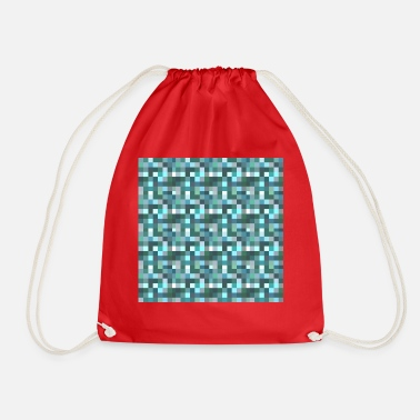 Pixel pixelated - Drawstring Bag