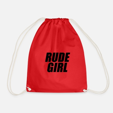 Rude Girl Rude girl black - Drawstring Bag