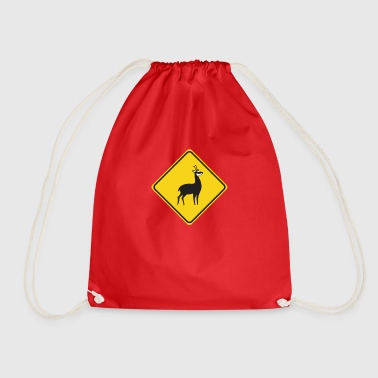 Chamois chamois road sign road sign chamois - Drawstring Bag