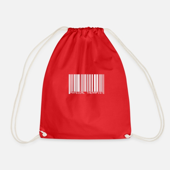 Gift Idea Bags & Backpacks - Physiotherapist - Drawstring Bag red
