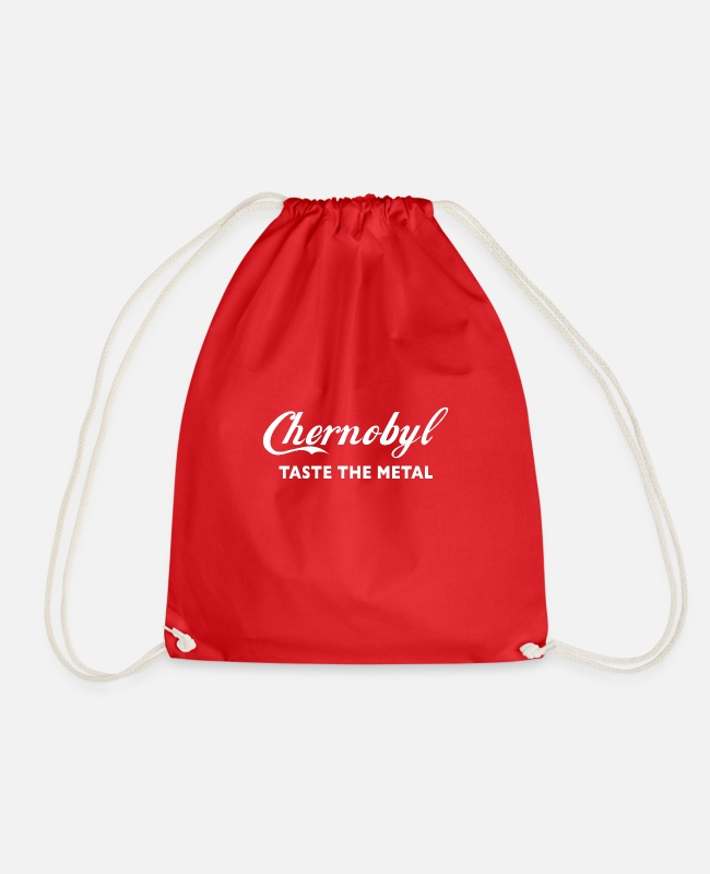 Chernobyl Bags & Backpacks - Chernobyl Taste the metal - Drawstring Bag red