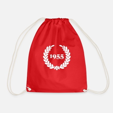 Typography Best Wife Since 1955 Wedding Anniversary Gift - Drawstring Bag