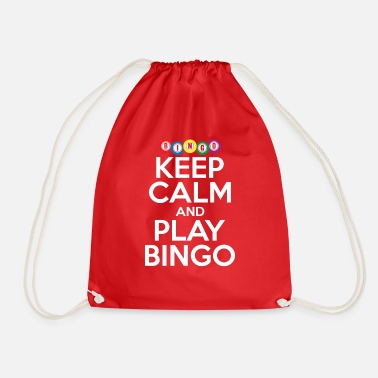 Bingo Keep Calm And Play Bingo Funny Lucky Player Cool - Drawstring Bag