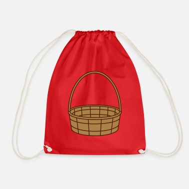 Basket basket basket easter basket gifts plaited clip - Drawstring Bag