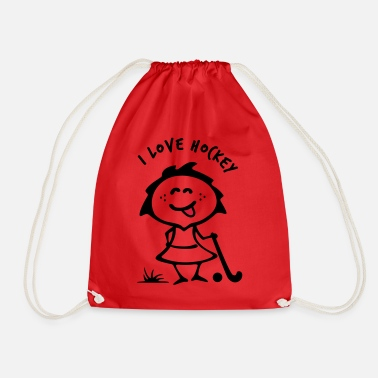 Hockey Hockey girlie - Drawstring Bag