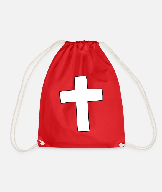 Think Bags & Backpacks - cross - Drawstring Bag red