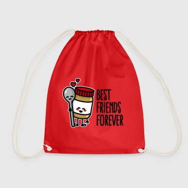 Best friends forever peanut butter / spoon BFF - Drawstring Bag
