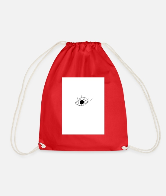 Eye Bags & Backpacks - eye - Drawstring Bag red