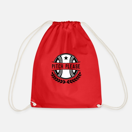 Gift Idea Bags & Backpacks - Sports Shirt • Baseball • Gift - Drawstring Bag red