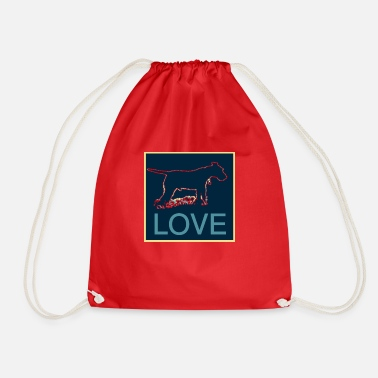 LOVE welshie - Drawstring Bag