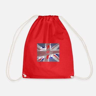 Deal Deal or No Deal with flag - Drawstring Bag
