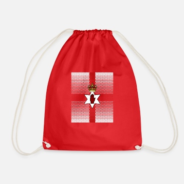 Northern Ireland Symbols Spotted Northern Ireland flag country gift - Drawstring Bag