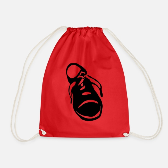 Van Bags & Backpacks - shoe - Drawstring Bag red