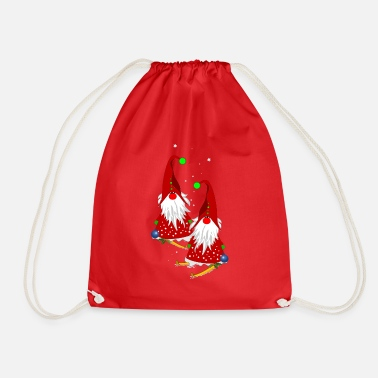 Gnome on the slopes - Drawstring Bag