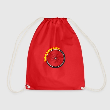 Take The Bike, Take the Wheel - Drawstring Bag