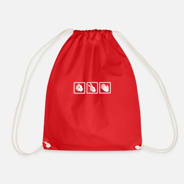 Rock rock paper scissors v2 - Drawstring Bag