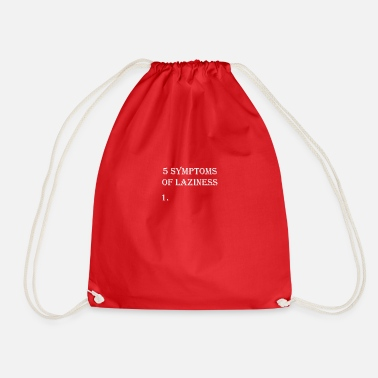 Lazy lazy laziness lazy lazy nix do nothing - Drawstring Bag