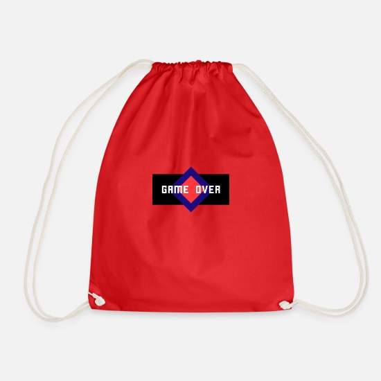 Over Bags & Backpacks - Game Over - Drawstring Bag red