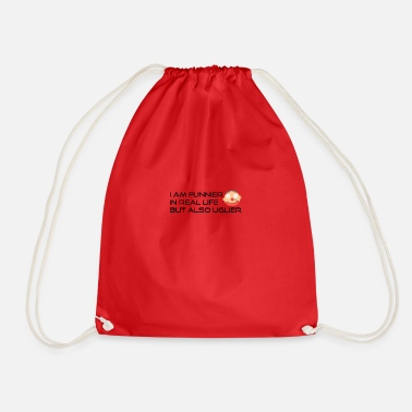 Funnier I am funnier in real life - Drawstring Bag