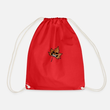 Scary leaf - Drawstring Bag