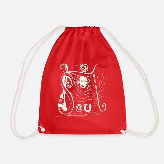 Visualization Bags & Backpacks - soul - Drawstring Bag red