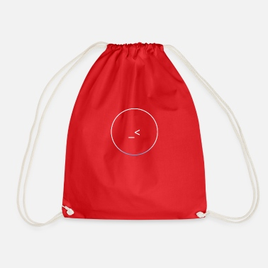 Blue White White and white-blue logo - Drawstring Bag
