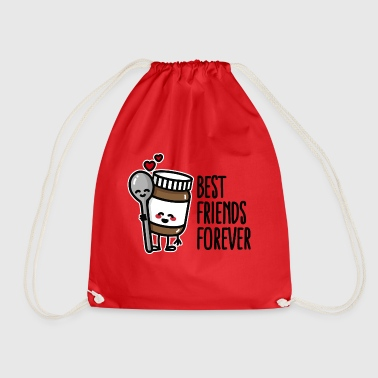 Best friends forever chocolate spread / spoon BFF - Drawstring Bag