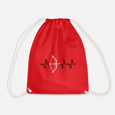 Archery, Bow and Arrow Heartbeat, 2 colors - Gymtas