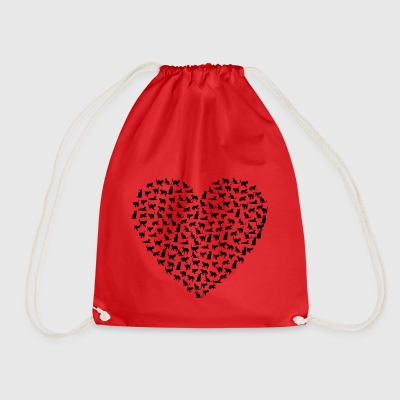 Cats heart - Drawstring Bag
