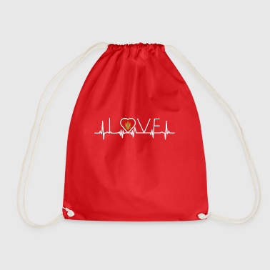 home roots queen love from heart Montenegro png - Drawstring Bag