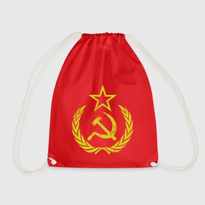 Vintage Communist Retro Sickle Hammer - Drawstring Bag