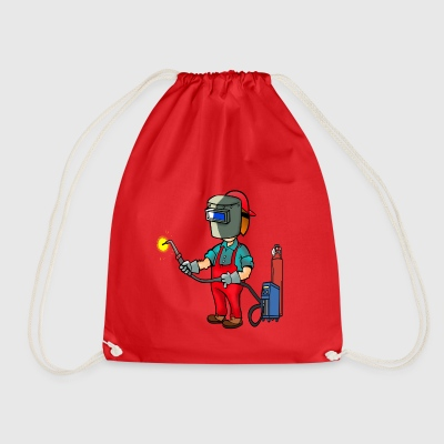 welder welder craftsman craftsman worker - Drawstring Bag
