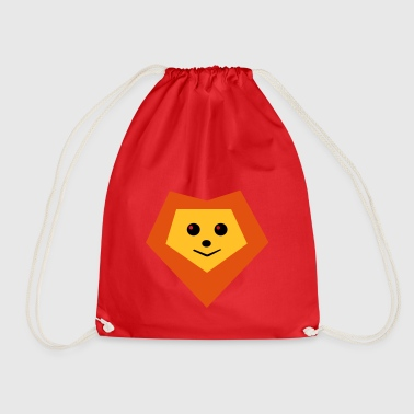 cool lion face t shirt gift idea - Drawstring Bag