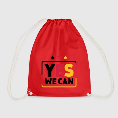 Yes we can Black Red Gold Germany soccer fan - Drawstring Bag