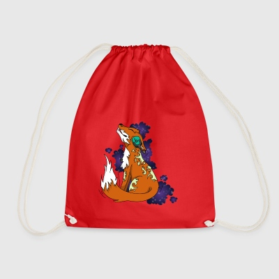 Fox with headphones - Drawstring Bag