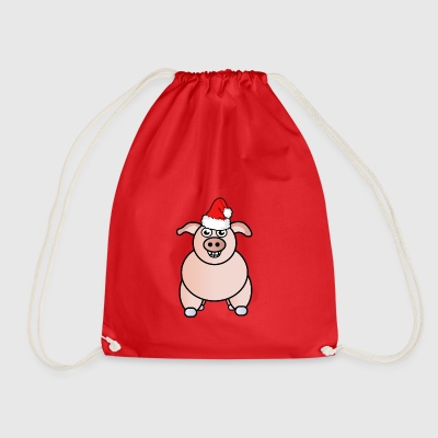 Christmas | Merry Christmas | Pig farmer - Drawstring Bag