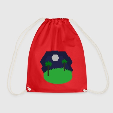 Hexagonal landscape - Drawstring Bag