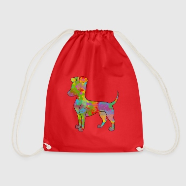 Manchester Terrier Multicolored - Drawstring Bag