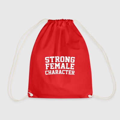 Strong Female Character Feminism - Drawstring Bag