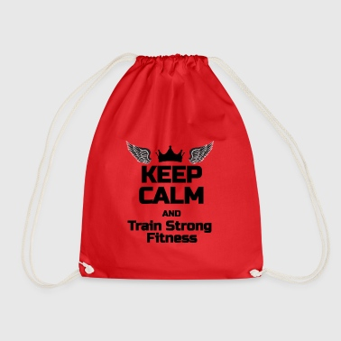 KEEP CALM Phrase For fitness lovers - Drawstring Bag