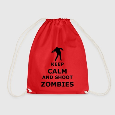 keep calm zombie - Drawstring Bag