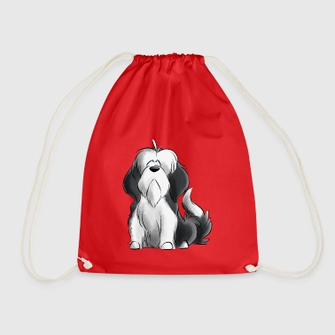 Jeg er Bearded Collie - grå - Gymbag