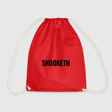 Shooketh Black - Drawstring Bag
