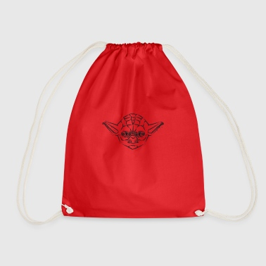 Yoda Icon playful: black - Drawstring Bag