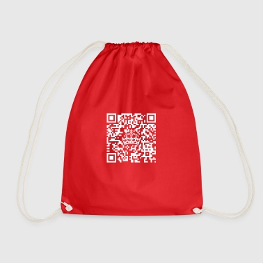 Keep calm, I am just a little QR - Code! - Drawstring Bag