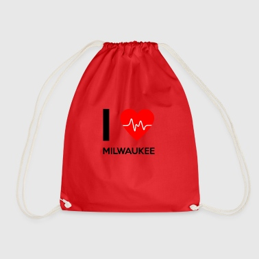 I Love Milwaukee - I love Milwaukee - Drawstring Bag