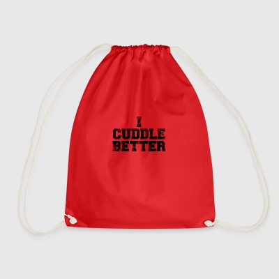 i cuddle better - Drawstring Bag
