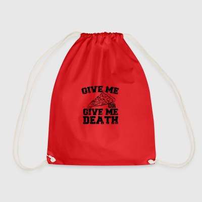 Give me pizza - Drawstring Bag